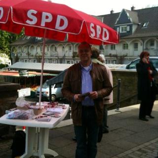 Landtagswahlkampf in Essen /  Margarethenhöhe vom 28.04.12