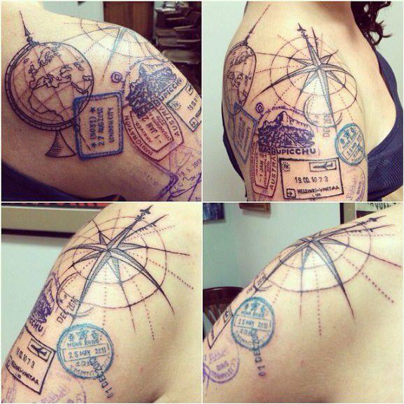 A nice Travel Tattoo.