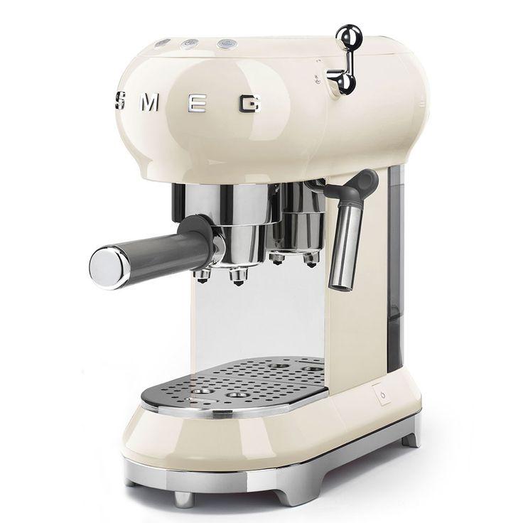 Smeg 50's Retro Style Espresso Coffee Machine - Cream