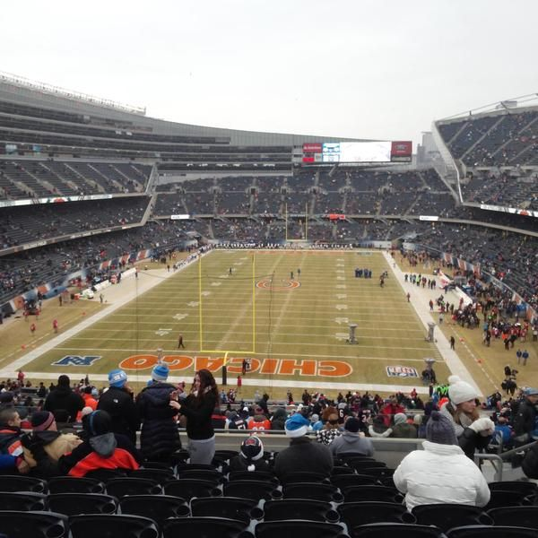 View from the end zone seats at Soldier Field. Home of the Chiago Bears. Learn more about these Seats at http://www.fromthisseat.com/index.php/nfl/chicago-bears.