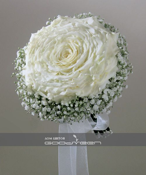 """Snow Queen"" bridal bouquet | House of Flowers GOODVEEN - studio modern floristry, flower shop in Tashkent"