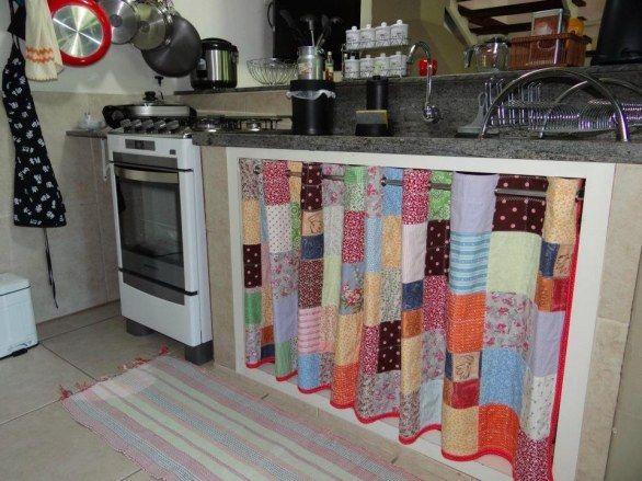 armário de cozinha com cortina - Google Search