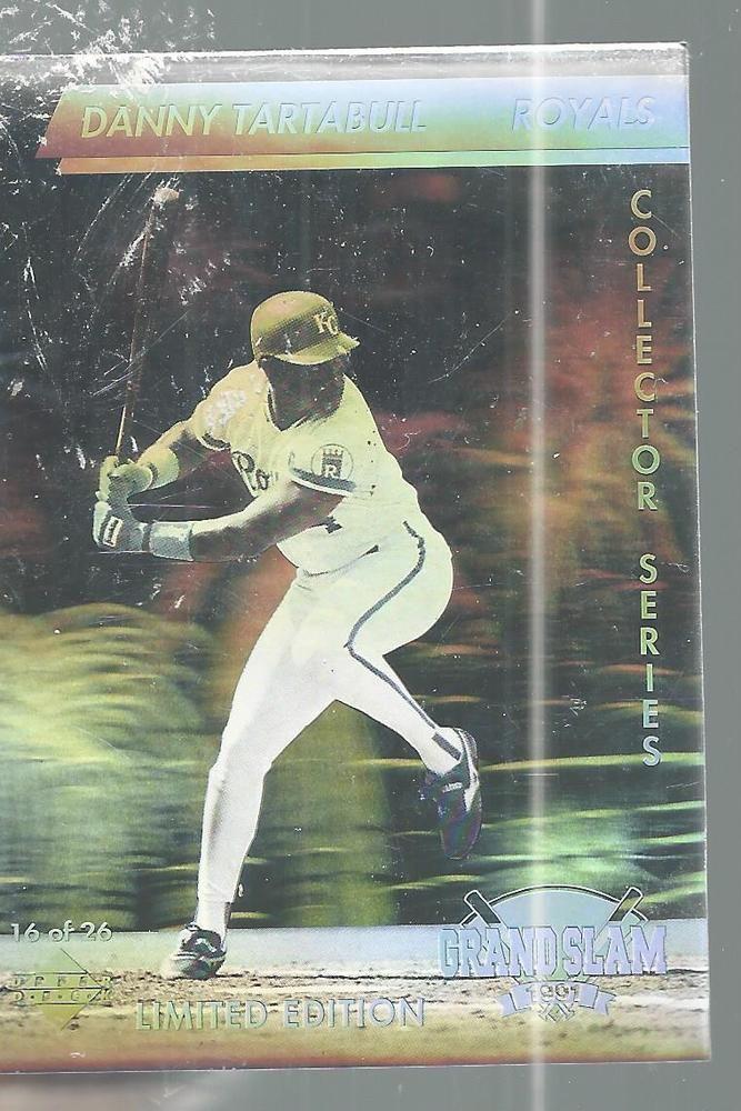 Danny Tartabull Hologram Grand Slam1991 Baseball Card Upper Deck Limited Edition #UpperDeck #KansasCityRoyals