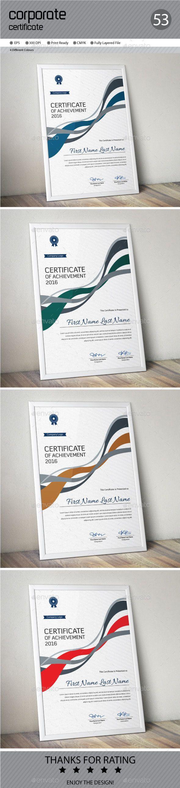 Certificate Template Vector EPS #design Download: http://graphicriver.net/item/certificate/14520801?ref=ksioks