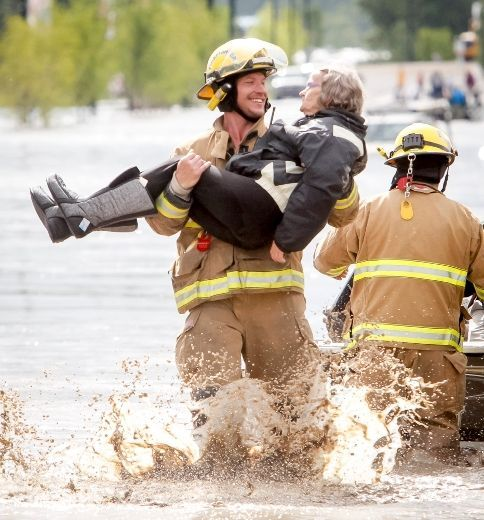 Calgary flood 2013 that smile would make my day anyday