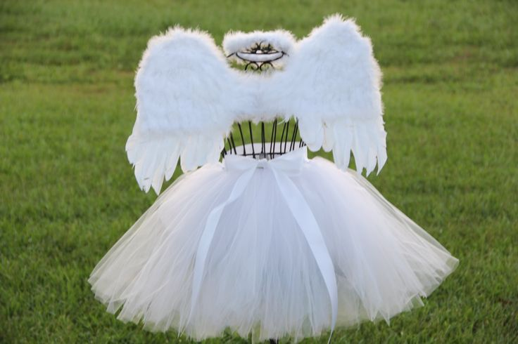 Child Angel Costume Halloween Costume White by ShirleyTemplesTutus, $64.50