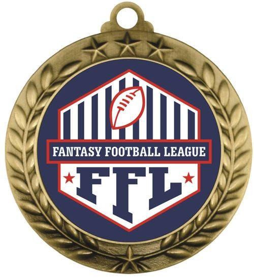 Fantasy Football League Medal #FFL500-039A | Football