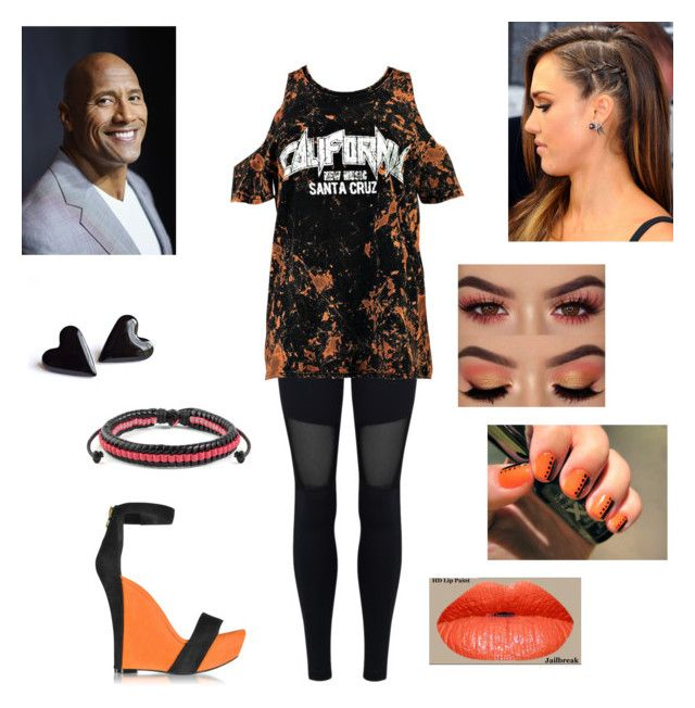 """""""The Rock: you wear a cold shoulder shirt"""" by dpclma ❤ liked on Polyvore featuring Varley, Boohoo, Balmain and West Coast Jewelry"""