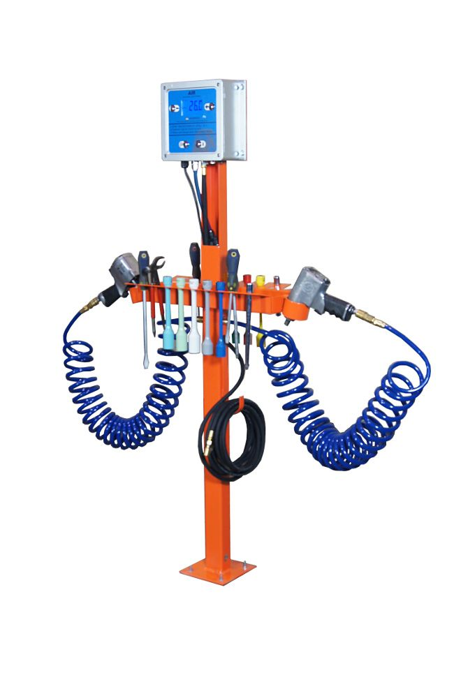 MTTS-MW Tire Tool Stand with Automatic Tire Inflator