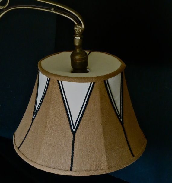 Linen And Silk Lampshade With Bridge Uno Fitter By