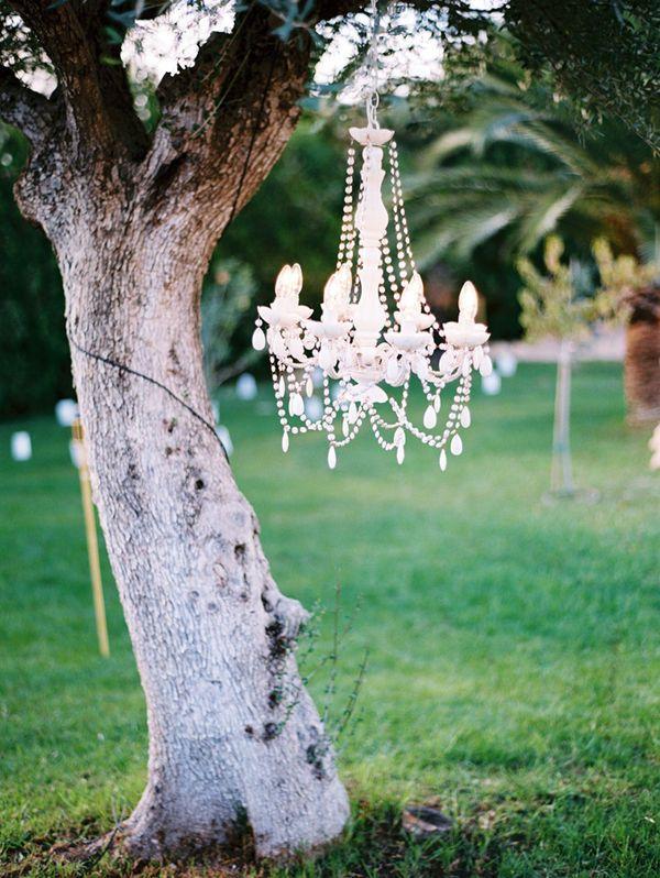 chandelier in nature