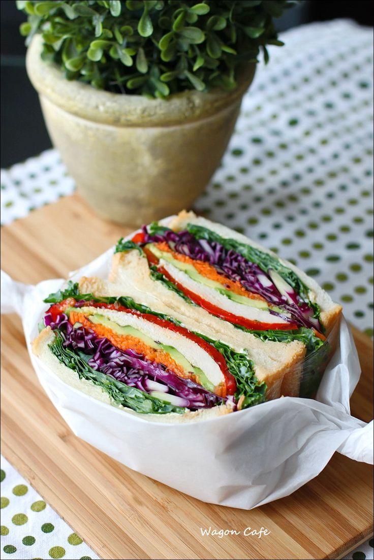 自家製角食で♪ 沼さん風サンドのお弁当(ランチ) : Wagon Cafe