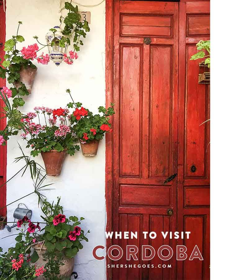 The best time to visit Cordoba, Spain is during the spring patio festival. Click to see all the beautiful flower filled courtyards.