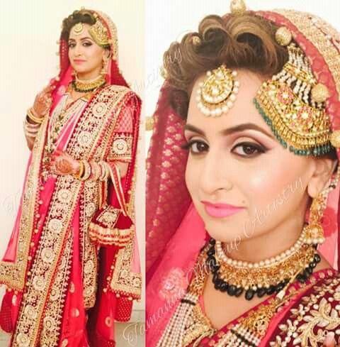 khada dupatta hyderabadi bride tamanna makeup artist