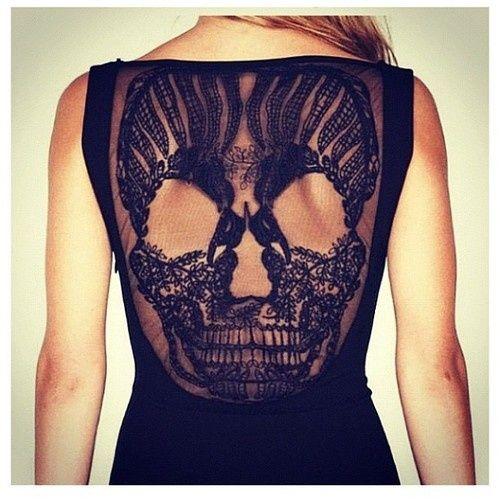 Skull back dress