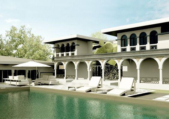 Proiect Imobil Neoromanesc Modern si Piscina Exterioara | Concept Design casa clasica stilizata si reinterpretata cod ATS Slobozia, Ialomita