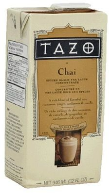The mix Starbucks uses to make chai tea lattes. must. buy.