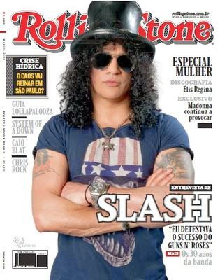 ROCK NA VEIA: Slash: na capa e em entrevista para a Rolling Ston...