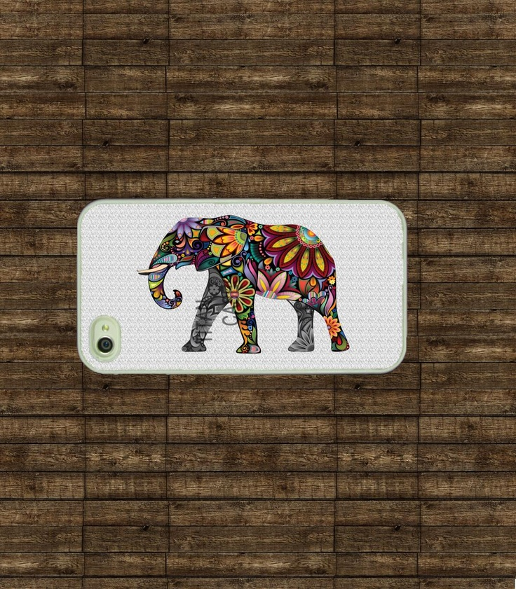 Iphone case - Colorful Elephant , Iphone 4
