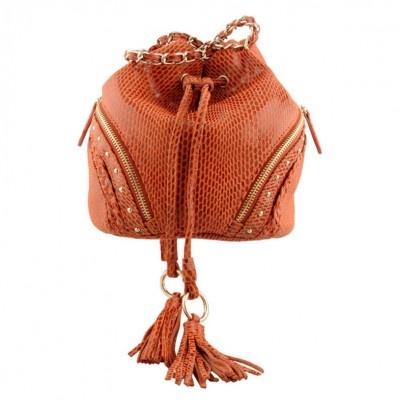 Fab rust duffle bag - Kelly Brown.