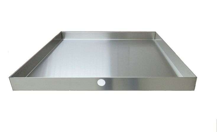 "32"" x 30"" 2.5"" Heavy Duty Washer Machine Drain Pan, Stainless Steel"