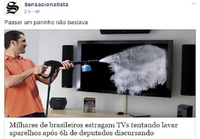 Quando a realidade começa a se parecer com um quadro do Dalí ou um show Stand Up Comedy é hora dos bem humorados e criativos entrarem em ação para dar aquela aliviada na tensão e, porque não, fazer algumas críticas bem pertinentes. E isso é o que o Sensacionalista faz de melhor. A cobertura da votação do impeachment de Dilma Roussef feita ontem pelo site rolou em tempo real e foi de chorar de rir. Os absurdos ditos por alguns dos políticos presentes na seção fora transformados em piadas…