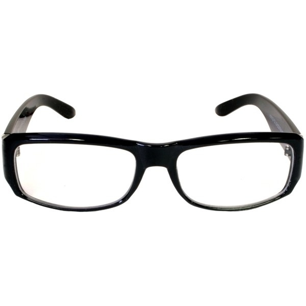 Fake Nerd Glasses Square Euro Geek Sunglasses Black Clear Lens ❤ liked on Polyvore