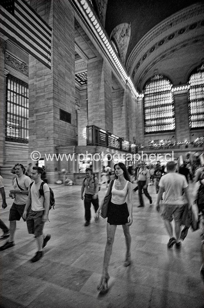 woman walking grand central station New York