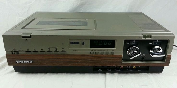Vintage CURTIS MATHES G748 VCR VHS PLAYER Video Cassette Recorder MADE IN JAPAN. Our first VCR; The whole family put money toward it!