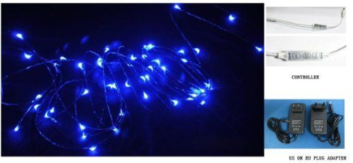 Q20ag New Starry Lights - Blue Color Copper Wire - 15ft 5m LED String Light - Includes Power Adapter and Flash Controller - 2nd Generatin with 100 Individual Led's- Flexible qlee http://www.amazon.com/dp/B00COOH8XC/ref=cm_sw_r_pi_dp_PFNhwb1ZSTESG