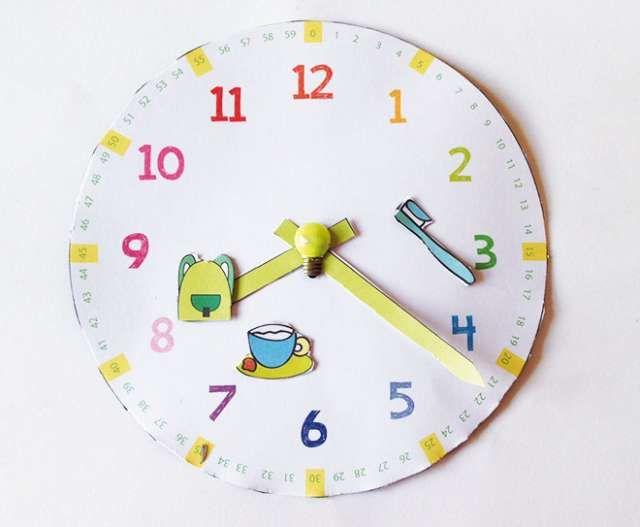 Insegnare a leggere l'orologio ai bambini: PDF da scaricare | Mamma Felice