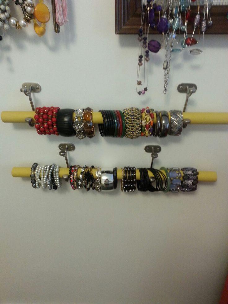 16 best bracelet holders images on pinterest bracelet for Bangle organizer diy