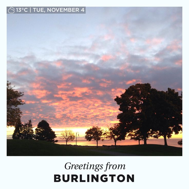 Waking up to 13C is pretty sweet in November!! Happy Tuesday everyone!! #BurlOn
