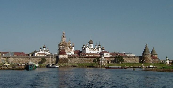 Соловецкий монастырь. Solovetsky Monastery is located on one of islands in the White Sea.