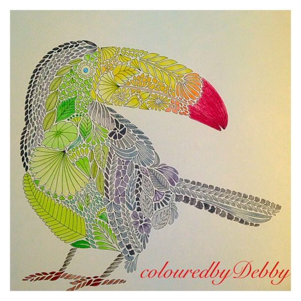 Tropisch Paradijs Coloring BooksAdult ColoringColouringTropical ParadiseAnimal KingdomZentangleWonderlandMandalasDrawing