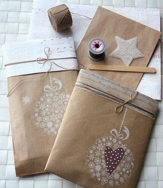 Новогодние идеи упаковки подарков » Дизайн интерьеров