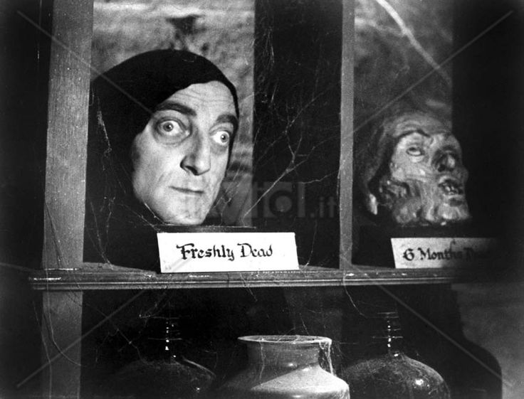**Young Frankenstein (1974)  Gene Wilder, Madeline Kahn, Marty Feldman  - Director: Mel Brooks IMDB: Dr. Frankenstein's grandson, after years of living down the family reputation, inherits granddad's castle and repeats the experiments.