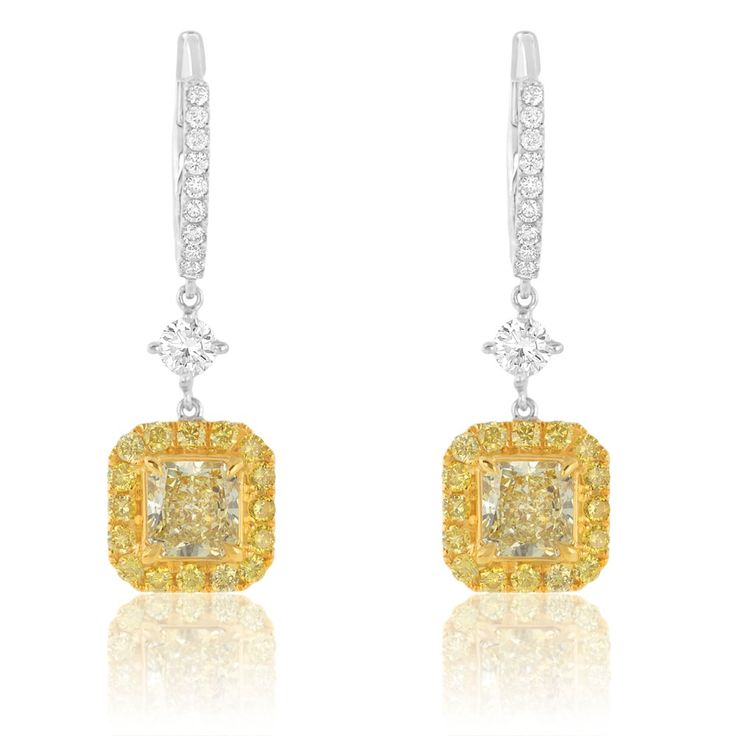 Resultado de imagen para colored diamonds earrings