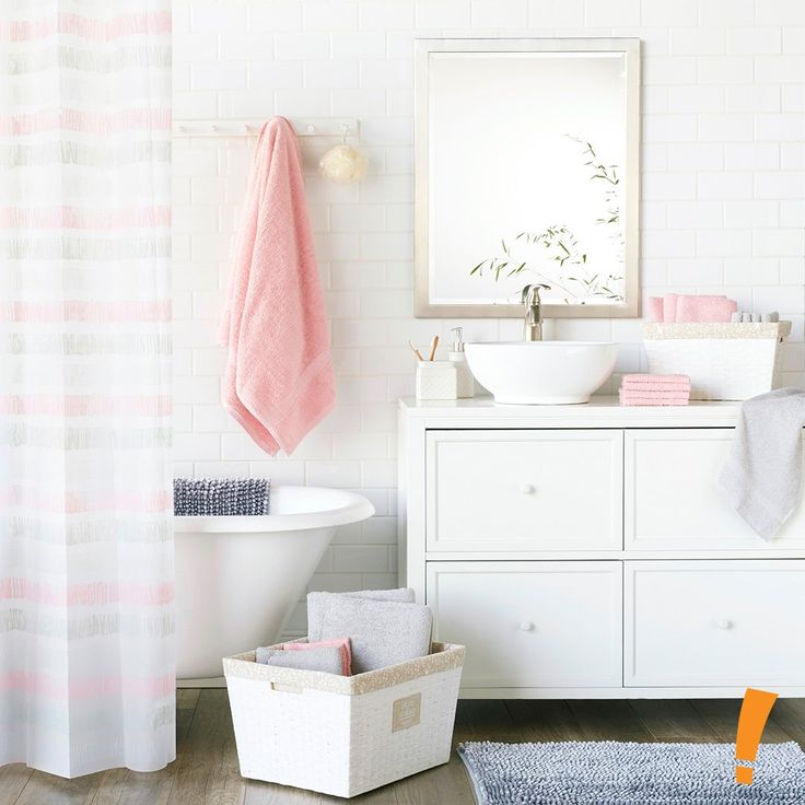 Bathroom decor is the game, Big Lots is the name ;) We are loving this pink theme!
