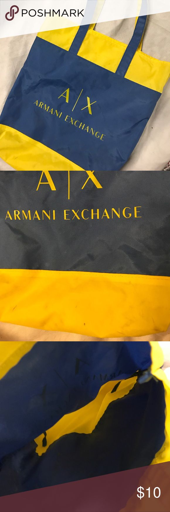 "AX Armani exchange Tote Bag tote measures 15"" x 13"" with SD 9"" Armani Exchange Bags Totes"