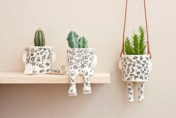 Dress up your houseplants in planter pants.