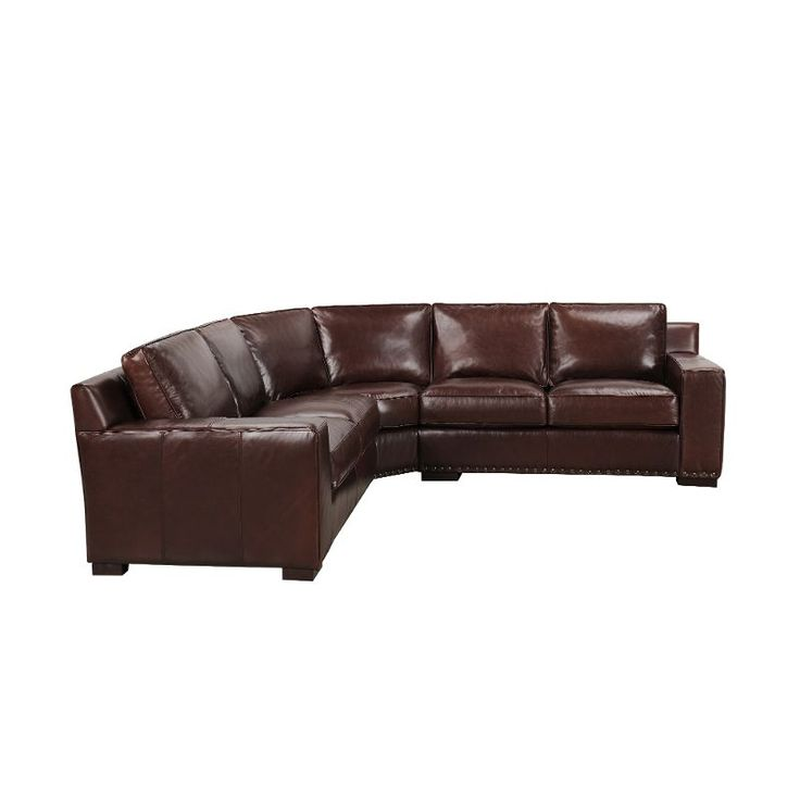 Galaway Brown Leather 3 Piece Casual Contemporary