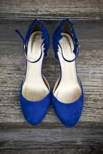 Blue Suede Wedding Shoes ♥ Vintage Bridal Shoes | Mavi Süet Vintage Ayakkabılar
