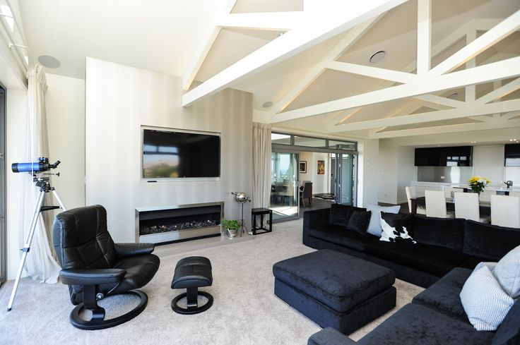 The main living area provides plenty of options for the occupants.