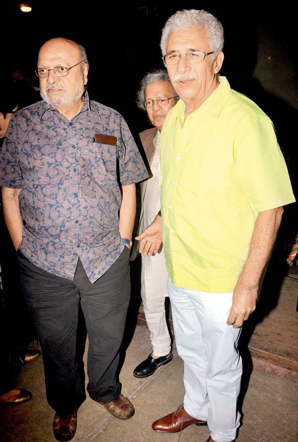Veteran actor Naseeruddin Shah launched his book 'And Then One Day: A Memoir' at an interactive event in Mumbai.He was accompanied by wife Ratna Pathak and Shyam Benegal, with whom he made his acting debut.
