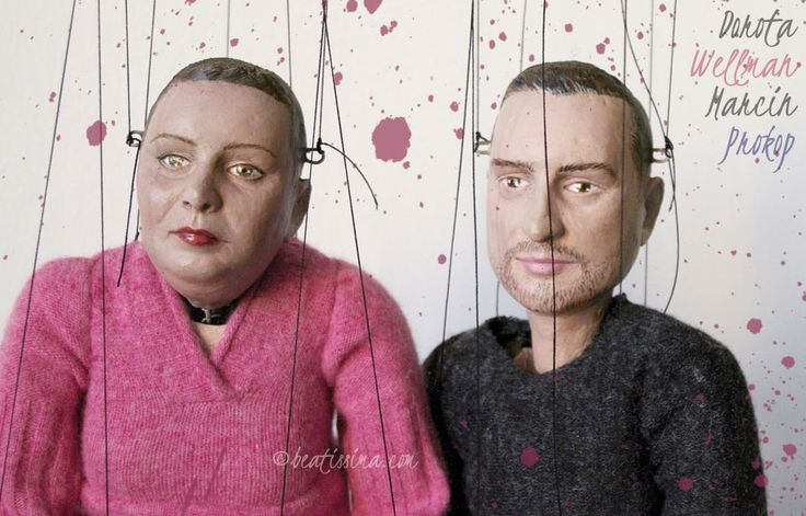 Lalki artystyczne, lalki portretowe lubianych i znanych dziennikarzy TVN.