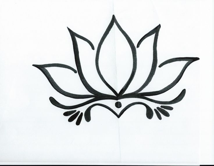 Line Drawing Of Lotus Flower : Image gallery lotus flower outline drawing