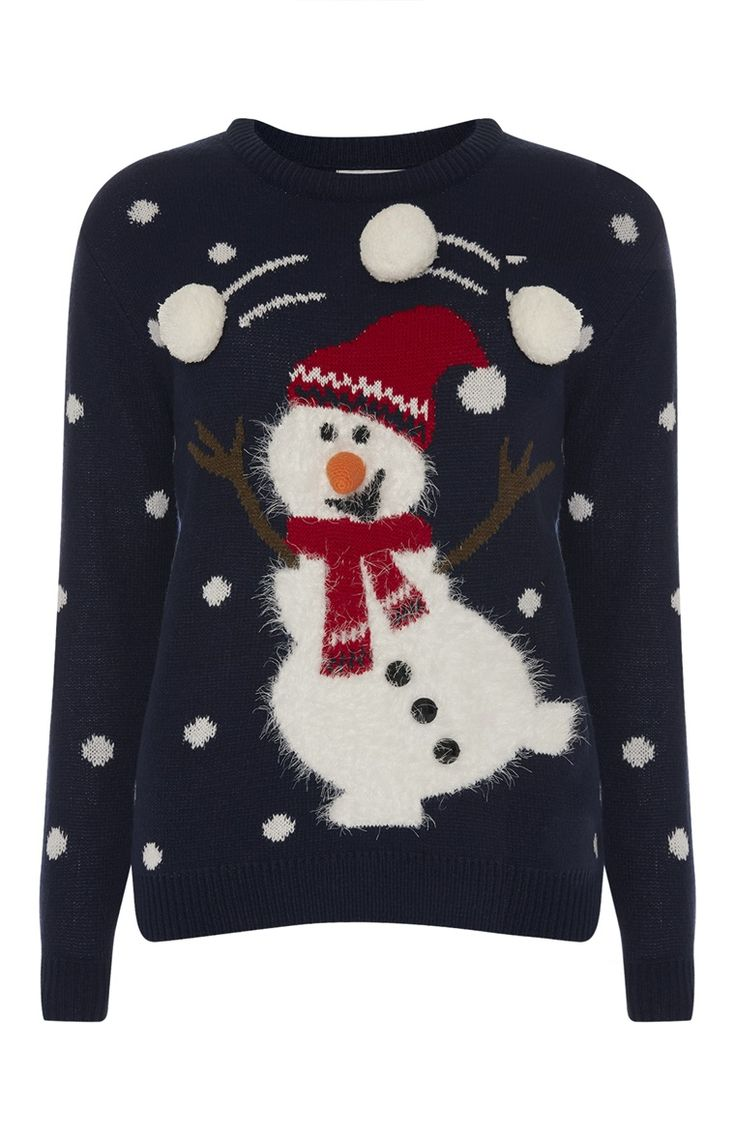 Juggling Snowman Christmas Jumper