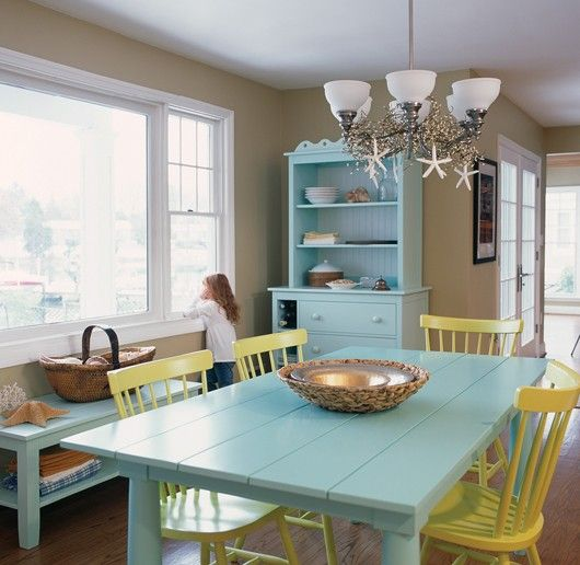 Colorful Coastal Dining Room