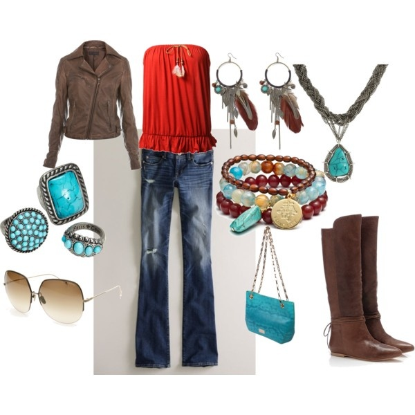 Cool colors...country concert outfit! :)